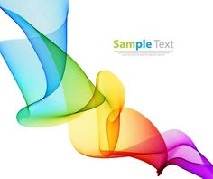 Colorful Waves Line Abstract Design Vector Background