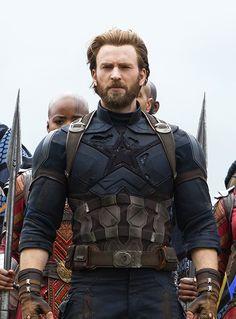 Chris Evans as Steve Rogers in 'Avengers: Infinity War'
