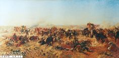 The Last Great Cavalry Charge by Lambert. On 31st October 1917, 800 men of the Australian Light Horse Brigade charged entrenched Turko-German defences at Beersheba, Palestine. It was an 11th hour attempt to capture vital water wells and save the attacking allied forces from disaster. Under heavy fire from artillery, aircraft, machine gun and rifle fire and against great odds, they successfully charged into history, their losses were 31 dead, 36 wounded and 70 of their beloved horses died.