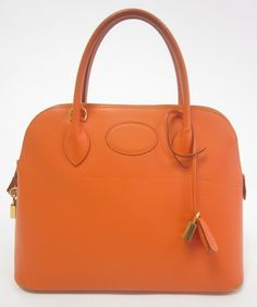 Hermes Orange 31 cm Bolide Rigide  www.palmpreownedhandbags.com