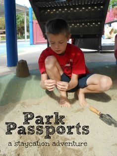 printable park passports for kids! What a fun staycation idea.