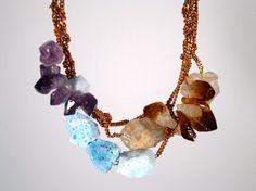 raw stones necklace