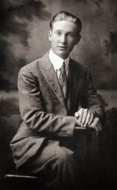 A photo of Reverend Edward Tanis as a young man.