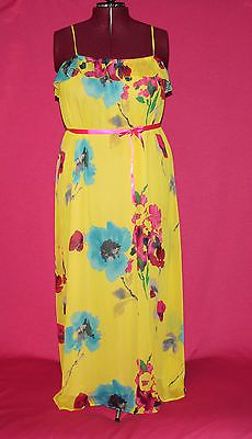 Old Navy Yellow Floral Chiffon Maxi Dress Size 2X XXL | eBay