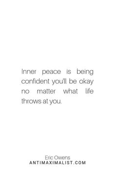 Inner Peace Quote