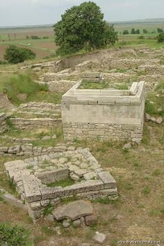Ruins of the ancient city of Troy, Turkey
