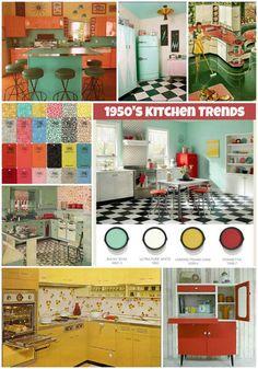 1950s Kitchen, Retro Kitchen Decor, Diy Kitchen, Kitchen Layout, Kitchen Ideas, Jaipur, 1950s Home Decor, Ikea, 1950s House