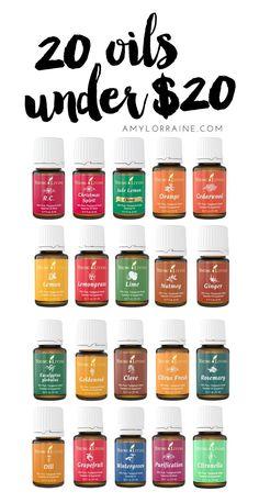 20 Young Living Oils Under $20 | www.amylorraine.com