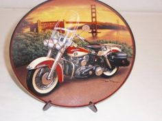franklin mint harley davidson plates |1958 Duo Glide & HARLEY DAVIDSON 94 Spec Franklin Mint Collectors Plate http ...