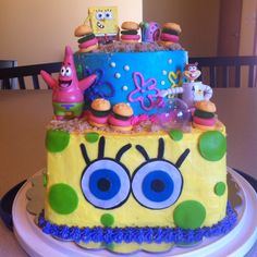 SpongeBob Cake! www.facebook.com/SabyCakes