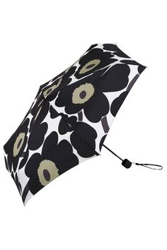 Collection: New Umbrellas. Print: Maija & Kristina Isola 1964. Description: Super light weight pocket-size manual function umbrella with slip-on case. Technical Features: Four-section ultraslim alumin
