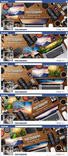 Photography Facebook Timeline Cover V6 - Facebook Timeline Covers Social Media Facebook Cover Design, Facebook Cover Template, Facebook Timeline Covers, Web Design, Page Design, Flyer Design Inspiration, Social Media Banner, Banner Template, Cool Fonts