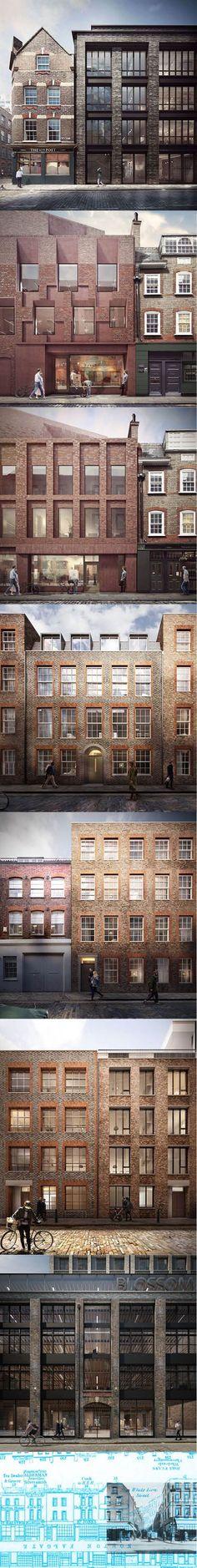 2015 Duggan Morris - Blossom Street / concept / London UK / brick / AHMM / Forbes Massie / concept: