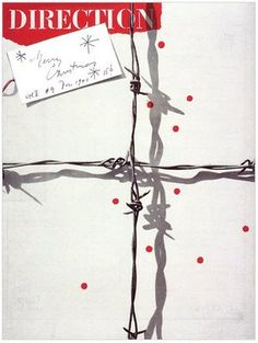 I think this is Paul Rand? Really simple presentation, really effective. Love the shadow on the barbed wire.
