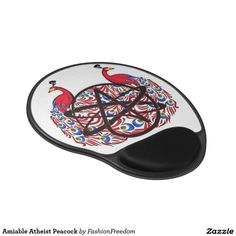 Amiable Atheist Peacock Gel Mouse Pad