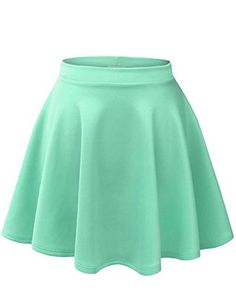Looking for the perfect Garfitsnowmbj Womens Basic Versatile Stretchy Flared Skater Skirt Large? Please click and view this most popular Garfitsnowmbj Womens Basic Versatile Stretchy Flared Skater Skirt Large. Skater Skirt Dress, High Waisted Skater Skirt, Green Pleated Skirt, Green Mini Skirt, Flared Mini Skirt, Flare Skirt, Mini Skirts, Circle Skirts, Emo Outfits