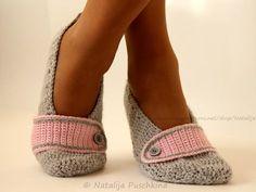 Gehäkelte Damen-Slippers für Zuhause (Größen 36-43)