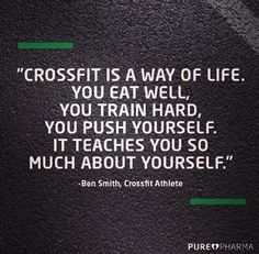 crossfit teaches you about yourself. crossfit teaches you about the world. life. people. its a great teacher for everything