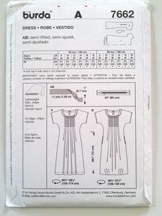 Burda 7662, Misses Summer Dress, Size 8, 10, 12, 14,. ◅. ▻