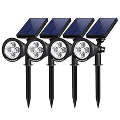 Led Underground Lamps Solar Lights Outdoor 360-degree Solar Ground Lights Deck Path Driveway Pool Fountain Step 4 Pack In-ground Solar Lights Led Lamps