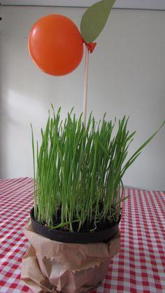 Festa da Quintanda com mini balões em formato de laranja para a mesa de convidados. Créditos: Decoração: Mimos e Afins Balões: Balão Cultura Consulte nos www.balaocultura.com.br #quitandinha #festanaquintanda #festanaquitadinha #balaocultura #balãocultura #qualatex