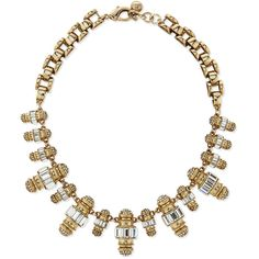 Lulu Frost Phantom Crystal Statement Necklace (585 CAD) ❤ liked on Polyvore featuring jewelry, necklaces, gold, statement necklace, golden necklace, chain link necklace, chain necklace and swarovski crystal jewelry