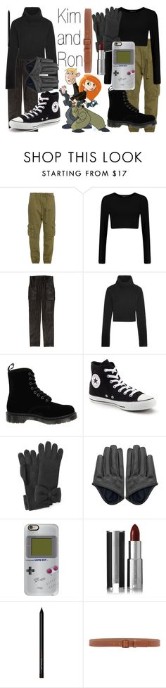 """""""Kim and Ron~ DisneyBound"""" by basic-disney ❤ liked on Polyvore featuring Current/Elliott, Theory, Michael Kors, Dr. Martens, Converse, Marc by Marc Jacobs, Casetify, Givenchy and Armani Collezioni"""