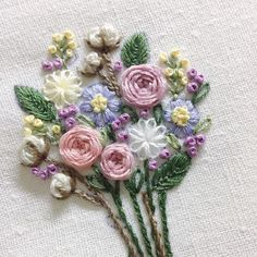 Awesome Most Popular Embroidery Patterns Ideas. Most Popular Embroidery Patterns Ideas. Hand Embroidery Flowers, Hand Embroidery Tutorial, Hand Embroidery Stitches, Embroidery Hoop Art, Hand Embroidery Designs, Embroidery Techniques, Ribbon Embroidery, Cross Stitch Embroidery, Modern Embroidery