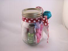 Mason jar pedicure gift set.