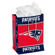 New England Patriots Official NFL Medium Gift Bag