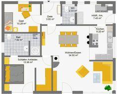 grundriss moderner bungalow ausbau scheune pinterest bungalow moderner bungalow und haus. Black Bedroom Furniture Sets. Home Design Ideas