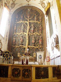 retablo Iglesia de Santa María del Castillo - árbol de Jesé