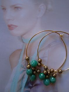 Creol earrings - Code green Aventurine