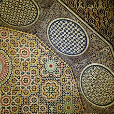 Some of the world's most amazing examples of kellij can be found in Morocco. Inspired by Roman mosaics, Moroccan artisans began creating their own versions of the tiled patterns as far back as the 11th century.