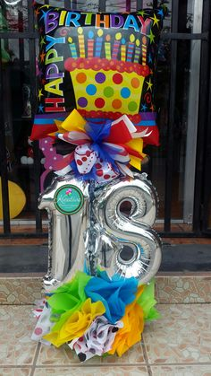 Arreglos Happy Birthday Bouquet, Happy Birthday Balloons, Diy Birthday, Birthday Gifts, Birthday Centerpieces, Balloon Centerpieces, Balloon Decorations, Birthday Decorations, Balloon Box