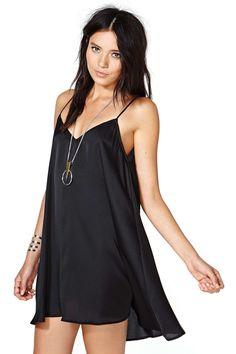 sexy black slip dress.