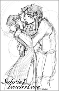 Sabriel and Touchstone by lberghol on DeviantArt