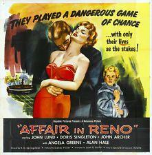 AFFAIR IN RENO Movie POSTER 30x30 John Lund Doris Singleton John Archer Angela