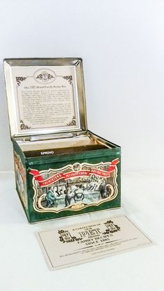 Vintage Tin Recipe Box, My Pet Brand !977, Collectible Tin Made in England