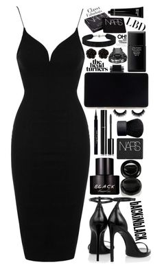 """You go back to her and I go back to black"" by bluemagicocean ❤ liked on Polyvore featuring Topshop, Yves Saint Laurent, Givenchy, Chanel, NARS Cosmetics, Kenneth Cole, Surratt, Shiseido, Erica Lyons and She.Rise"