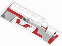 Zi Bo The Great Wall Museum of Fine Art,Axonometric Drawing 1 Museum Architecture, Architecture Panel, School Architecture, Axonometric Drawing, Contemporary Museum, Container Architecture, Old Factory, Adaptive Reuse, Concept Diagram