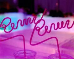 Personalized Straws!  I so am purchasing these for my next kids event!
