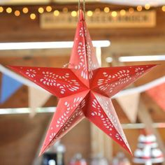 photo of Vintage Cowboy Star Lantern Cowboy Party Invitations, Rodeo Party, Paper Star Lanterns, Party Themes, Party Ideas, Barn Parties, 1st Birthday Parties, Birthday Ideas, Red Paper