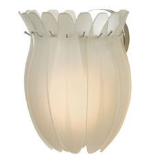 Aphrodite I Wall Sconce With Sateen White Glass Trend Flush To Wall Wall Sconces Wall Ligh