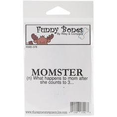 """Riley & Company Funny Bones Cling Stamp 3""""""""X.75""""""""-Momster"""