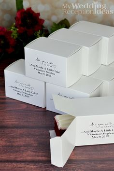 wedding cake boxes canada 5 x 3 custom printed cake slice favor boxes set of 50 22064