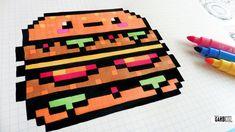 Handmade Pixel Art - How To Draw Kawaii Big Mac #p... - #Art #Big #draw #Handmade #kawaii #Mac #Pixel