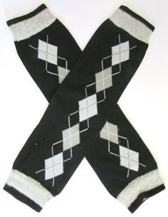 BLACK AND GRAY LEG WARMERS $7.00