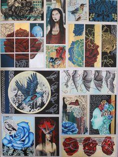 folio board by ~mezcat on deviantart - art resources for art students - Sketchbook Layout, Textiles Sketchbook, Gcse Art Sketchbook, Kunst Portfolio, Portfolio Ideas, A Level Art, Level 3, Art Courses, Ap Art