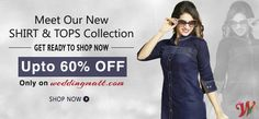 Beautiful SHIRT & TOPS Collection with exclusive 60% discount only on Weddingmatt.com